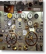 The Midway Throttle Board Metal Print