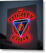 The Mighty Cone Of Austin Texas Metal Print
