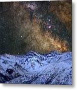 The Milky Way Over The High Mountains Metal Print