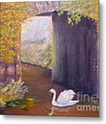The Mill Swan Metal Print
