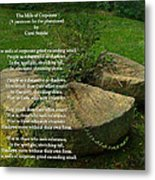 The Mills Of Corporate - Poem And Image Metal Print