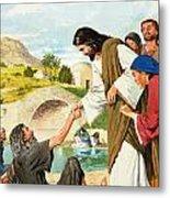 The Miracles Of Jesus  Making The Lame Man Walk Metal Print