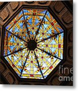 The Mission Inn Looking Up Metal Print