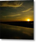 The Missouri River At Sunset South Of Culbertson Mt  Metal Print