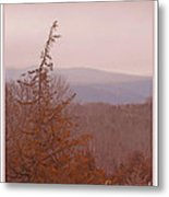 The Misty Mountains On A Misty Day Metal Print