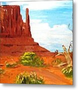 The Mitten In Mounument Valley Metal Print