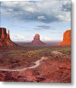 The Mittens And Merrick Butte At Sunset Metal Print