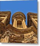 The Monastery In Petra Metal Print
