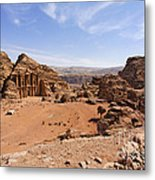 The Monastery Sculpted Out Of The Rock At Petra In Jordan Metal Print by Robert Preston