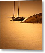 The Mont Saint-michel Bay At Sunset Metal Print