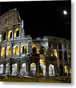 The Moon Above The Colosseum No1 Metal Print