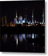 The Moonlit Mosque Metal Print by Farah Faizal