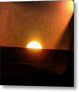 The Morning Light Show Metal Print
