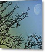 The Morning Moon Metal Print