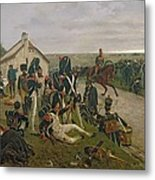 The Morning Of The Battle Of Waterloo Metal Print
