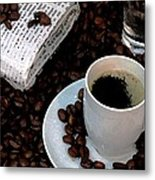 The Morning Paper Metal Print by Cole Black