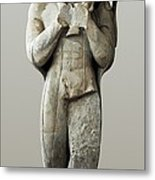 The Moschophoros. 570 Bc. Calf-bearer Metal Print