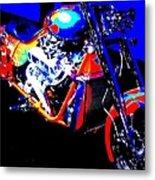 The Motorcycle As Art Metal Print