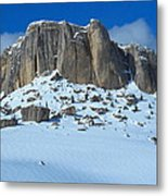 The Mountain Citadel Metal Print