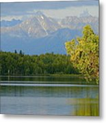 The Mountain Guards The River Metal Print