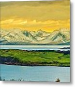 The Mountains Of Arran From Douglas Park Largs Metal Print