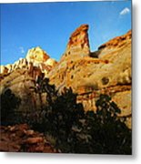 The Mountains Of Capital Reef   Metal Print
