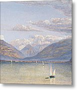 The Mountains Of St Gingolph Metal Print