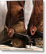 The Muddy Boots Metal Print by Olivier Le Queinec