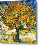 The Mulberry Tree After Van Gogh Metal Print