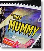 The Mummy Postage Stamp Print Metal Print