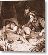The Murder Of The Princes In The Tower Metal Print