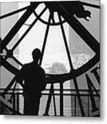 The Musee D'orsay Clock Metal Print