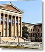 The Museum Of Art In Philadelphia Metal Print