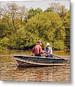 The Music Never Ends - Central Park Pond - Nyc Metal Print