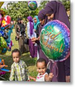 The Muslim Festival Of Eid Al-fitr Is Celebrated Around The Uk Metal Print