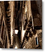 Narrow Street In Albarracin Metal Print