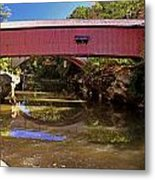 The Narrows Covered Bridge 1 Metal Print