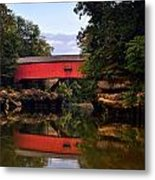 The Narrows Covered Bridge 5 Metal Print by Marty Koch