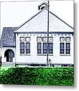 The National Museum Of Architecture In Sloansville N Y In 1905 Metal Print