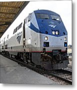The National Railroad Passenger Corp Amtrak Metal Print