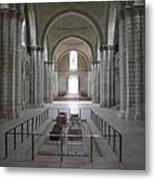 The Nave With Tombs Fontevraud Abbey Metal Print