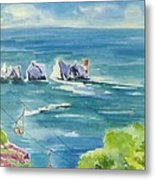 The Needles Isle Of Wight Metal Print