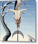 The Neolithic Totem Oil On Canvas Metal Print