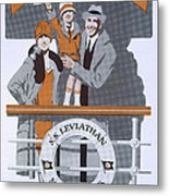 The New Holiday, Vintage Travel Poster Metal Print