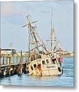 The New Hope Sunken Ship - Ocean City Maryland Metal Print