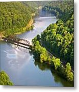 The New River From Hawks Nest Metal Print