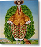 The New Vestments Ivor Cutler As Character In Edward Lear Poem, 1994 Oils And Tempera On Panel Metal Print