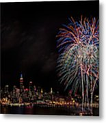 The New York City Skyline Sparkles Metal Print by Susan Candelario