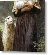 The Newborn Lamb Metal Print