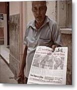 The Newspaper Seller Metal Print